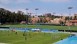 LOS ANGELES, USA - Saturday, May 26, 2018: Wales players during a training session at the UCLA Drake Track and Field Stadium ahead of the International friendly match against Mexico. (Pic by David Rawcliffe/Propaganda)