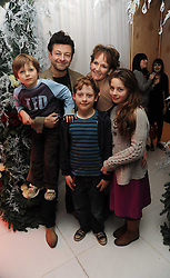 Actor ANDY SERKIS, his wife actress LORRAINE ASHBOURNE and their children RUBY, SONNY and LOUIS at the launch of the English National Ballet's Christmas season 2009 held at the St.Martin;s Lane Hotel, London on 15th December 2009.