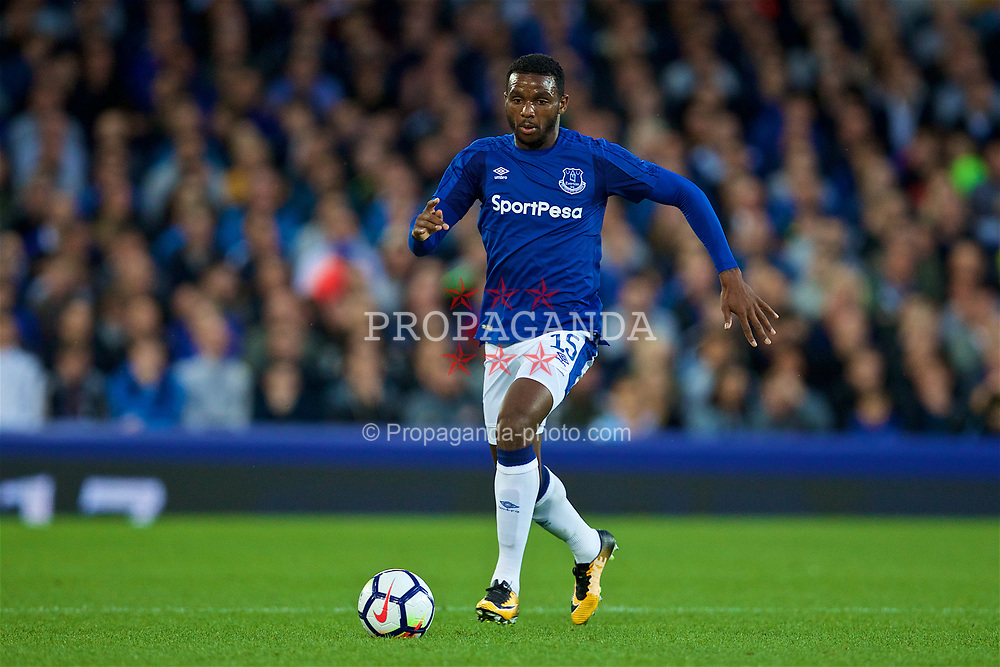 LIVERPOOL, ENGLAND - Thursday, August 17, 2017: Everton's Cuco Martina during the UEFA Europa League Play-Off 1st Leg match against HNK Hajduk Split at Goodison Park. (Pic by David Rawcliffe/Propaganda)