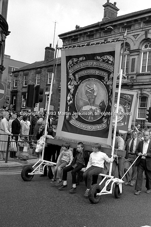 Silverwood banner, 1983 Yorkshire Miner's Gala. Barnsley