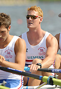 Poznan, POLAND,  GBR M4X, Marcus BATEMAN, , competing in a heat one of the men's quadruple scull, on the Second day of the, 2009 FISA World Rowing Championships. held on the Malta Rowing lake, Monday  24/08/2009 [Mandatory Credit. Peter Spurrier/Intersport Images]