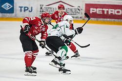 GLAVIC Gasper vs ROPRET Anze during Alps League Ice Hockey match between HDD SIJ Jesenice and HK SZ Olimpija on December 20, 2019 in Ice Arena Podmezakla, Jesenice, Slovenia. Photo by Peter Podobnik / Sportida