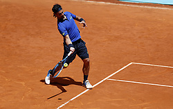 May 9, 2019 - Madrid, Madrid, Spain - Fabio Fognini of Italy seen in action against Dominic Thiem of Austria during day seven of the Mutua Madrid Open at La Caja Magica in Madrid, Spain. (Credit Image: © Manu Reino/SOPA Images via ZUMA Wire)