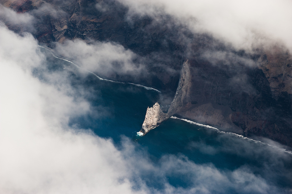 Steep cliffs surround Guadalupe Island, in the Pacific Ocean in Mexico