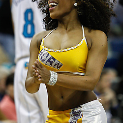 February 7, 2011; New Orleans, LA, USA; New Orleans Hornets Honeybees dancers perform during the fourth quarter of a game against the Minnesota Timberwolves at the New Orleans Arena.   Mandatory Credit: Derick E. Hingle