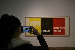 © London News Pictures. 25/09/2017. Hull, UK. Yes, I believe, every word you say by Andrea B¸ttner one of four artists shortlisted for Turner Prize 2017 at the Ferens Gallery in Hull, Britain. The exhibition is open to the public from 26 Sep 2017 to 7 Jan 2018. Picture by NIGEL RODDIS/LNP