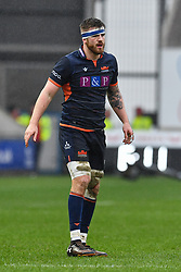 Luke Crosbie of Edinburgh<br /> <br /> Photographer Craig Thomas/Replay Images<br /> <br /> Guinness PRO14 Round 11 - Scarlets v Edinburgh - Saturday 15th February 2020 - Parc y Scarlets - Llanelli<br /> <br /> World Copyright © Replay Images . All rights reserved. info@replayimages.co.uk - http://replayimages.co.uk