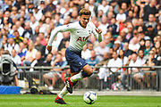 Tottenham Hotspur Midfielder Dele Alli (20) in action during the Premier League match between Tottenham Hotspur and Fulham at Wembley Stadium, London, England on 18 August 2018.