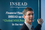 Michael Every, Head of Financial Markets Research Asia-Pacific, Rabobank, to share his views on the financial market during Insead Speaker event for insead alumni association on 18 May 2016 at Rabobank Office HK, Photo by MozImages.<br />