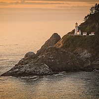 Heceta Head Light is a lighthouse located thirteen miles north of Florence, Oregon.  It is named after Bruno de Heceta who was a Spanish explorer in the late eighteenth century.  The lighthouse is the strongest light on the Oregon Coast.