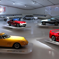 Ferrari 275 GTB4 & F40 (front row) at Museo Casa Enzo Ferrari, 2014