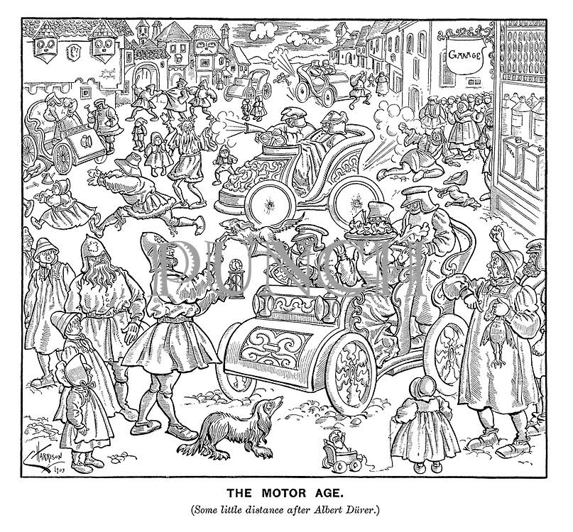 The Motor Age. (Some little distance after Albert Durer.)