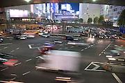 Shinjuku, Tokyo night traffic infrastructure
