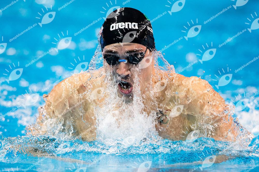 SCOZZOLI Fabio ITA<br /> Men's 100m Breaststroke Semifinal<br /> Doha Qatar 03-12-2014 Hamad Aquatic Centre, 12th FINA World Swimming Championships (25m). Nuoto Campionati mondiali di nuoto in vasca corta.<br /> Photo Giorgio Scala/Deepbluemedia/Insidefoto
