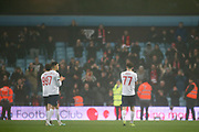 Liverpool players applaud the travelling fans during the EFL Cup match between Aston Villa and Liverpool at Villa Park, Birmingham, England on 17 December 2019.