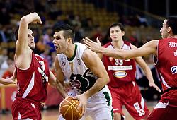 Sani Becirovic of Olimpija at basketball match of NLB League between KK Union Olimpija and KK Crvena zvezda,  on October 24, 2009, Arena Tivoli, Ljubljana, Slovenia.  Union Olimpija won 94:76.  (Photo by Vid Ponikvar / Sportida)