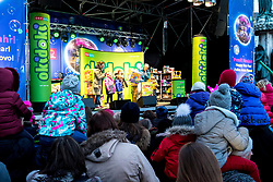 "31.12.2017, Innenstadt, Wien, AUT, Wiener Silvesterpfad 2017, im Bild ""okidoki"" Kinder-Silvester-Party bei der Freyung // during the 2017 Vienna Sylvester Path at the downtown area of Vienna, Austria on 2017/12/31. EXPA Pictures © 2017, PhotoCredit: EXPA/ Sebastian Pucher"