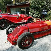 1926 Talbot-Darracq GP 1500 with Alfa Romeo 6C 1750 GS Spider Zagato, Concorso d'Eleganza Villa d'Este Italy 2010