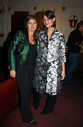 Left to right, VANESSA WINGATE and KATRINA PAVLOS at the Grand Classics screening of Manhattan hosted by Giles Deacon at the Electric Cinema, Portobello Road, London W11 on 13th November 2006.<br />