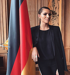 """Sophia Thomalla releases a photo on Twitter with the following caption: """"""""Ich liebe Deutschland.Ich liebe die Deutschen.Und die hier friedlich leben. Der Hass der AfD- wird bald Geschichte sein. #letsstaytogether"""""""". Photo Credit: Twitter *** No USA Distribution *** For Editorial Use Only *** Not to be Published in Books or Photo Books ***  Please note: Fees charged by the agency are for the agency's services only, and do not, nor are they intended to, convey to the user any ownership of Copyright or License in the material. The agency does not claim any ownership including but not limited to Copyright or License in the attached material. By publishing this material you expressly agree to indemnify and to hold the agency and its directors, shareholders and employees harmless from any loss, claims, damages, demands, expenses (including legal fees), or any causes of action or allegation against the agency arising out of or connected in any way with publication of the material."""
