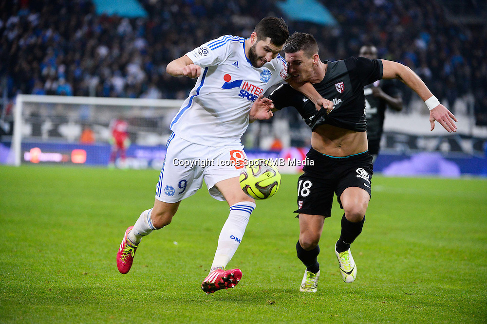 Andre Pierre GIGNAC / Jeremy CHOPLIN - 07.12.2014 - Marseille / Metz - 17eme journee de Ligue 1 -<br />