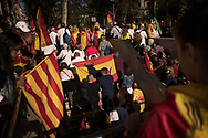 Unionists massive rally in Barcelona against plans by Catalan separatist government to declare independence. Barcelona, 08 October 2017.