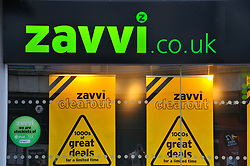 Zavvi music shop closing down due to recession crisis Reading Berks Jan 2009