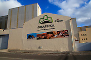 Capisa Grafusa mill factory industrial buildings, Puerto del Rosario, Fuerteventura, Canary Islands, Spain