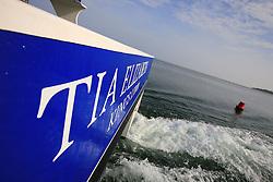 UK ENGLAND NORFOLK SHERINGHAM SHOAL 25SEP13 - Tidal Transit vessel Tia Elizabeth  leaves Wells harbour on the Norfolk coast, England.<br /> <br /> <br /> <br /> jre/Photo by Jiri Rezac<br /> <br /> <br /> <br /> © Jiri Rezac 2013