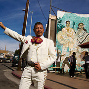 Mariachis gather at Mariachi Plaza on a Sunday in hopes of being hired to play their music at a party or a restaurant. Please contact Todd Bigelow directly with your licensing requests.