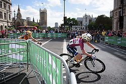 Anna van der Breggen in the first lap as Boels Dolmans tear up the peloton - Stage 5 of the OVO Energy Women's Tour - a 88.2 km road race, starting and finishing in London on June 11, 2017, in the United Kingdom. (Photo by Sean Robinson/Velofocus.com)