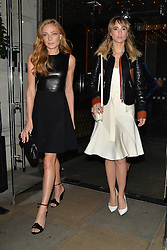 Models Clara Paget and Suki Waterhouse attend as Ambassador Barzun, Mrs Brooke Barzun and Alexandra Shulman celebrate London Fashion Week at Winfield House in association with J Crew and Vogue. London, UK. 16/09/2014<br />
