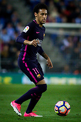 April 29, 2017 - Barcelona, Spain - BARCELONA, SPAIN. APRIL 29TH, 2017 - Neymar Jr controls the ball during La Liga Santander matchday 35 game between Espanyol and FC Barcelona. RCDE Stadium. Photo by EALO | PHOTO MEDIA EXPRESS (Credit Image: © Ealo/VW Pics via ZUMA Wire/ZUMAPRESS.com)