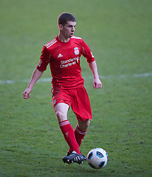 LIVERPOOL, ENGLAND - Saturday, January 8, 2011: Liverpool's John Flanagan in action against Crystal Palace during the FA Youth Cup 4th Round match at Anfield. (Pic by: David Rawcliffe/Propaganda)