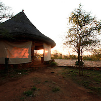 BASE CAMP ON THE EDGE OF THE TARANGIRE NP TANZANIA