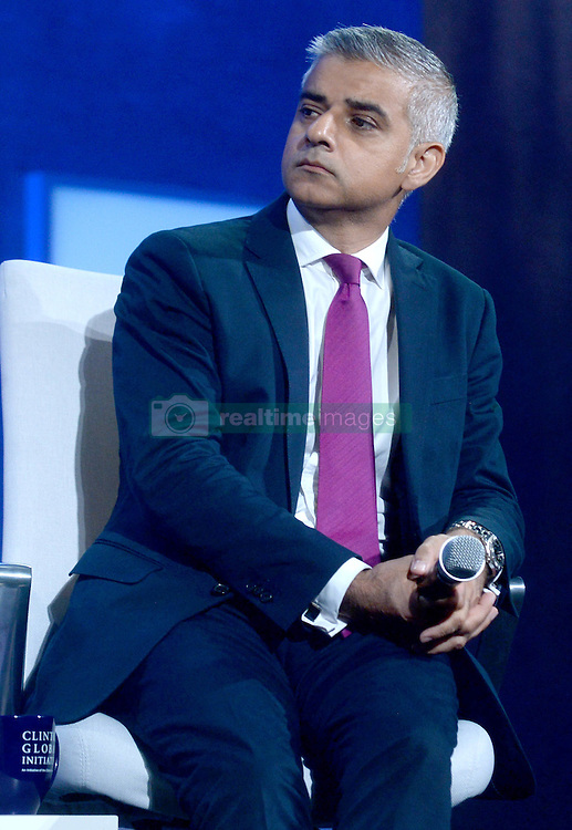 Sadiq Khan at The Business And Political Leaders Attend Clinton Global Initiative Annual Meeting in New York, September 19th 2016.