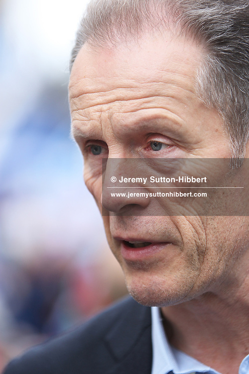 EDINBURGH, SCOTLAND - SEPTEMBER 21:  Blair Jenkins, Chief Executive of the pro-Scottish independence 'Yes Scotland' campaign, speaks at the Rally For Scottish Independence, on September 21, 2013 in Edinburgh, United Kingdom.  (Photo by Jeremy Sutton-Hibbert/Getty Images)