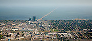 southern aerial view of the Lake Pontchartrain Causeway
