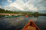 Family paddling on the Connecticut River, Maidstone, Vermont