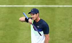 Great Britain's Andy Murray during day two of the Fever-Tree Championship at the Queens Club, London. PRESS ASSOCIATION Photo. Picture date: Tuesday June 19, 2018. See PA story TENNIS Queens. Photo credit should read: Steven Paston/PA Wire. RESTRICTIONS: Editorial use only, no commercial use without prior permission.