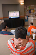 18110StudentVenu Kotha Watches the ICC Cricket World Cup, India vs. Sri Lanka in Baker Center on Friday, March 23rd