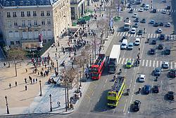 view from the Arc de Triomphe, Paris France