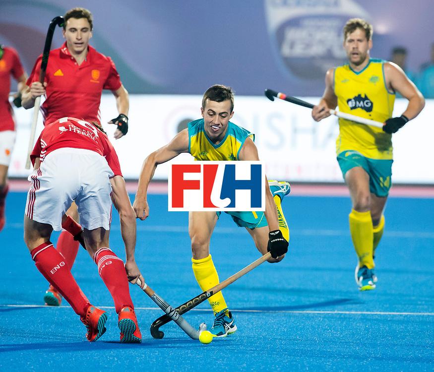 BHUBANESWAR - The Odisha Men's Hockey World League Final . Match ID 09 .  Australia v England  .Lachlan Sharp (Aus)    WORLDSPORTPICS COPYRIGHT  KOEN SUYK