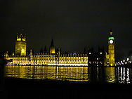British House of Parliament from across the Thames at Westminster Bridge