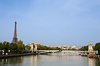 pont alexandre III in the beautiful city of paris france