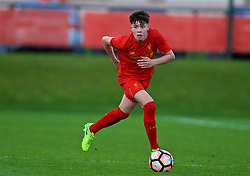 KIRKBY, ENGLAND - Friday, March 31, 2017: Liverpool's Neco Williams in action against West Ham United during an Under-18 FA Premier League Merit Group A match at the Kirkby Academy. (Pic by David Rawcliffe/Propaganda)