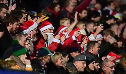 Santa's celebrate Worcester's try  - Mandatory by-line: Alex Davidson/JMP - 22/12/2017 - RUGBY - Sixways Stadium - Worcester, England - Worcester Warriors v London Irish - Aviva Premiership