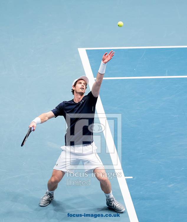 Andy Murray during the final of the Erste Bank Open at Wiener Stadthalle, Vienna, Austria.<br /> Picture by EXPA Pictures/Focus Images Ltd 07814482222<br /> 30/10/2016<br /> *** UK &amp; IRELAND ONLY ***<br /> EXPA-PUC-161030-0281.jpg