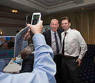 A pic with Keith Wright at Dundee FC hall of fame dinner at Invercarse Hotel, Dundee, Photo: David Young<br /> <br />  - &copy; David Young - www.davidyoungphoto.co.uk - email: davidyoungphoto@gmail.com