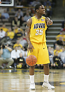 04 JANUARY 2007: Iowa guard Mike Henderson (35) sets up the offense in Iowa's 62-60 win over Michigan State at Carver-Hawkeye Arena in Iowa City, Iowa on January 4, 2007.